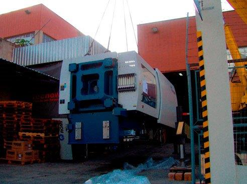 Movimentação de máquinas pesadas